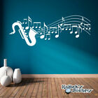 Saxophone with Musical Sheet Notes Vinyl Wall Decal home art decor sticker BD504