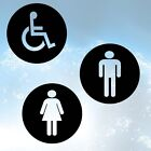 LADIES MEN DISABLED TOILET Sticker Vinyl BATHROOM DOOR GLASS WOOD sp