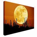 Large Moon White Canvas Wall Art Print Large + Any Size