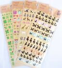 Paper Seal Scrapbooking Sticker Sheet (Cat, Animals, Presents, Clovers)~KAWAII!!