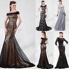 Floral Designer Prom 2014 Womens Lace Long Mermaid Ball Gown Evening Party Dress