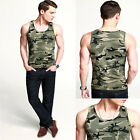 New Fashion JS Classic Muscle Fit PJ Cool Mens A-Shirts Wife Beater Camouflag