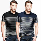 Super Sexy Men Slim Fit Tees Sports Polo Tops Shirts Short Sleeve T-Shirts XS-L