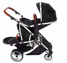 DUELLETTE 21 BS TWIN NEWBORN DOUBLE PUSHCHAIR PRAM TRAVEL SYSTEM TANDEM CAR SEAT <br/> From newborn if used with Kids Kargo seat /Maxi adapter