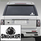 SNOOKER car/van sticker