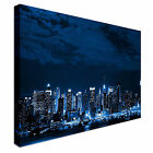 New York skyline City Scene Blue Canvas Wall Art Print Large + Any Size