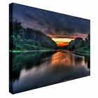 Photographic  Scenic landscape Lake Canvas Wall Art Print Large + Any Size
