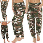 New Ladies Womens Camouflage Print Ali Baba Harem Hareem Trousers Size S M L XL