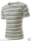(HAST01) Thelees Mens Slim Fit Checker Pattern Patch Short Sleeve Tshirts