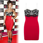 Womens Ladies Lace Mini Dress Lucy Mecklenburgh Bodycon Sexy Strappy Top Dresses