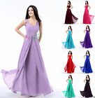 Chiffon Long Women's Sweetheart Dress Bridesmaid Evening Party Formal Prom Gown
