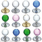 FULTON & BRAY Mortice Door Knobs - Chrome - Brass - Glass - Crystal Cut