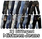 NEW AUTHENTIC MEN'S 21 DIFFERENT DESIGNS OF MISKEEN JEANS SIZE 36 UP TO 44