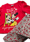 Girls Pyjamas PJs Minnie Mouse Top and Long Pants Set Ages 2-8 Years Cotton
