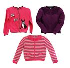 girl's Hartstrings little sweater button-down cardigan ruffles/applique 3T 4T 5