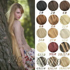 new!  clip in on real human hair extensions black brown blonde red hot!