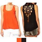 Sexy Women Punk Open Back Hollow Cut Out Sleeveless Tops Shirts Blouse Vest Tank