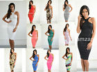 new womens ladies sexy racer cut out midi classic towie glam celeb bodycon dress