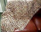 THROW BROWN LEOPARD PRINT NEW Fleece Soft Warm Snug Sofa blanket washable 3sizes
