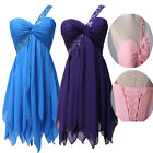 New Chiffon Wedding Bridesmaid Mini Gown Ball Party Cocktail Evening Prom Dress