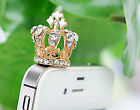 Crown Rhinestone  Anti Dust Plug For phones iPhone iPad Christmas Discount Gift