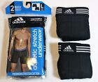 Men adidas Climalite Athletic Stretch 2-Pack Black Boxer Brief Underwear