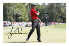 Tiger Woods Signed Photo Print Autograph The Masters Golf Celebration Red Shirt