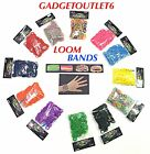 600 LOOM BANDS RAINBOW COLOURFUL KIDS GLOW IN THE DARK GLITTER COLOURSTOOL&SCLIP