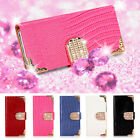 DIAMOND MAGNETIC WALLET LEATHER FLIP CASE COVER FOR SAMSUNG GALAXY S4