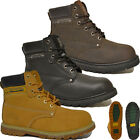MENS SAFETY STEEL TOE CAP BOOTS GROUNDWORK LEATHER LACE UP WORK SHOES TRAINERS