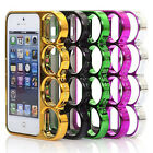 Fashion Rings Knuckles Finger Phone Frame Case Cover For iPhone 5/ 5S 5 COLORS