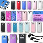 Luxury thin Metal Aluminum Case Cover For Samsung Galaxy S4 S3 Note 2 + Earphone