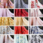 "1 Meter 16M/M Printed 100% Silk Fabric Bridal Clothing Quilt Sewing 45"" Breadth"