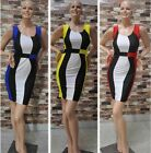 Celeb Women's Sleeveless Bodycon Pencil Cocktail Bandage Evening Party Dress -LA