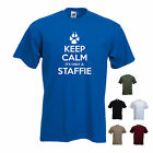 'Keep Calm it's Only a Staffie' Mens Pet Dog Staffordshire Bull Terrier T-shirt