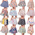 Women Retro High Waist Pleated Floral Print Chiffon Mini Short Skirt dress C1MY