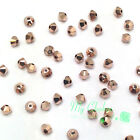 Crystal Rose Gold 2x (001 ROGL 2X) Swarovski 5328 / 5301 3mm Loose Bicone Beads