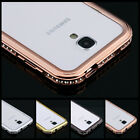 NEW Diamond Crystal Bling Metal Frame Bumper Case For SAMSUNG Galaxy S4 i9500