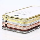 Diamond Crystal Bling Metal Frame Bumper Case For Samsung Galaxy Note 2 II N7100