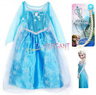 Disney Frozen Princesse Elsa Enfants Filles Robe Jupe Costume Girl Dress 3-9 Wig