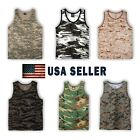 NEW MEN DIFFERENT COLORS OF CAMOUFLAGE CAMO ARMY MILITARY TANK TOP SLEEVELESS