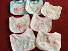 NEW Pretty Baby Girl Pack of 7 Velcro Fastening Days of the Week Fairy Tale Bibs