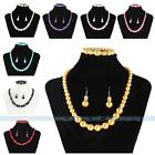 Hot Fashion Charm Pearl Ball Beads Necklace Bracelet Earrings SET Necklace