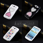 Bling Love 3D Crystal Hard Case Cover Skin For Samsung Galaxy S4 i9500 /S3 I9300