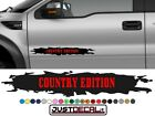 Truck Door COUNTRY EDITION decal Graphic Bed Stripe fit SUV 4x4 car truck