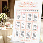 PERSONALISED VINTAGE SCROLL DESIGN WEDDING TABLE SEATING PLAN PLANNER - BOXES