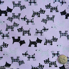 Scottie Dogs Pink Blue Red Per FQ 1 2m or Metre Polycotton Fabric