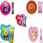 Kids Plastic Dinnerware Set Hello KItty Winnie The Pooh Spiderman Mickey Mouse