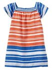 NWT BABY GAP Girls Road Trip Striped Colorblock Striped Flutter Dress 0-3 6-12