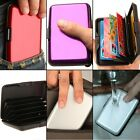 Smoothly ID Credit Card Holder Box Case Waterproof Wallet Purse Gift Metal Gilt